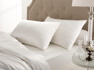 Ivory silk satin pillowcase